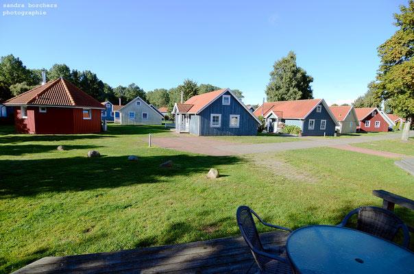 """Blick von der Terrasse auf """"Klein-Schweden"""""""