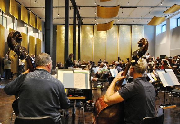 Die erste Orchesterprobe im neuen Probenzentrum am 31.08.2011