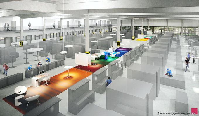 FZ Schulzentrum Saarbrücken | Kommunikationszonen | Auftrag durch RSE Planungsgesellschaft mbH | Kassel