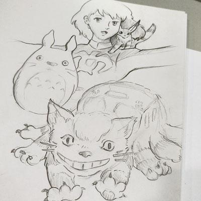 Ghibli-Sketches von Lisa »Miss Felidae« Arnberger