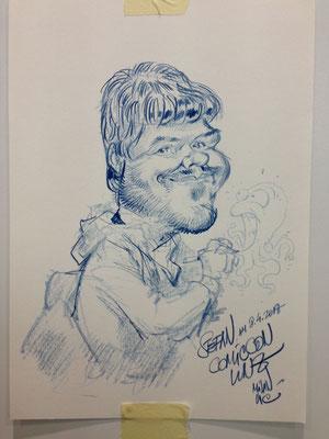 Karikatur von Stefan, gezeichnet von Milan