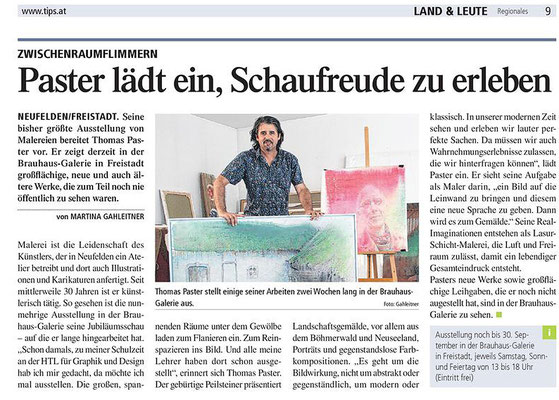 Bericht in den TIPS Freistadt