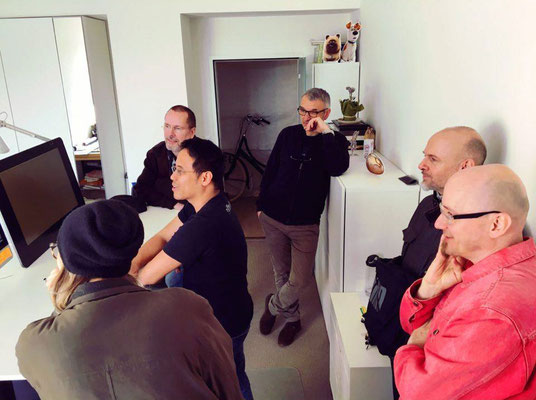 V.l.n.r.: Lisa »Miss Felidae« Arnberger, Herbert Schenner (CCA), Marc Mühlberger, Milan A. Ilic, Roland »REZ« Reznicek, Helmut »Dino« Breneis; Foto: Carina Lindmeier