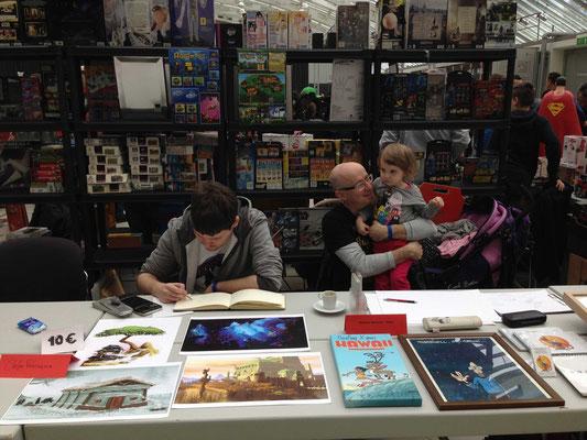 Tag 2: Stefan, Dino & Dino's kleine Tochter (ihre erste Comic Con!) - Foto: Claudia Greiter