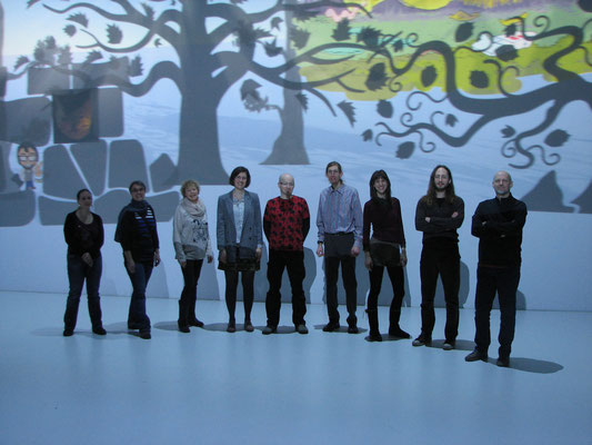 Andrea Rath, Johanna Wögerbauer, Conny Wolf, Anna Neulinger, Dino, Wolfgang Hauer, Verena Rotky, Stephan Weixler, REZ (v.l.n.r.)