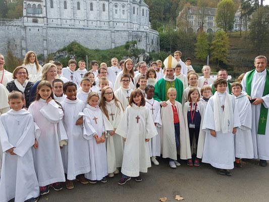 Le groupe normand avec Mgr Habert