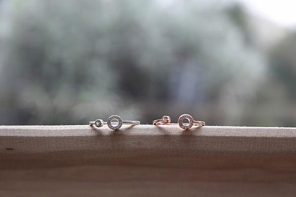 Ring  'AVA'  925 Sterling Silber / Rosévergoldet