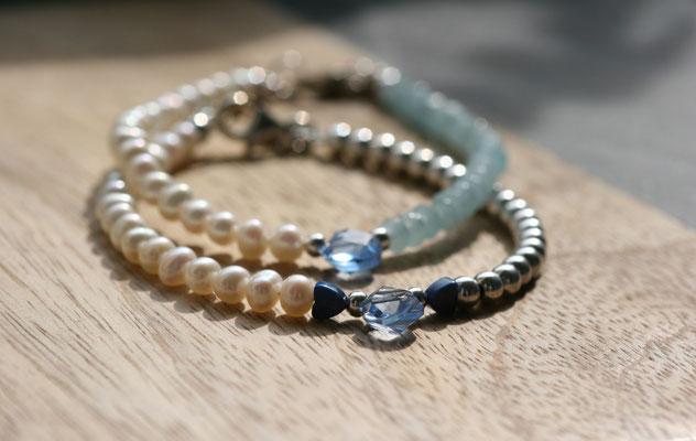 'BRIDE LINE'  Pearl Silver & Pearl Blue