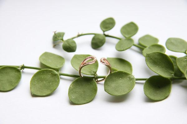 Ring  'YANA'  925 Sterling Silber Rosévergoldet/Zirkonia