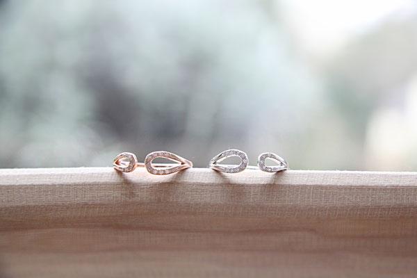 Ring  'YANA'  925 Sterling Silber / Rosévergoldet