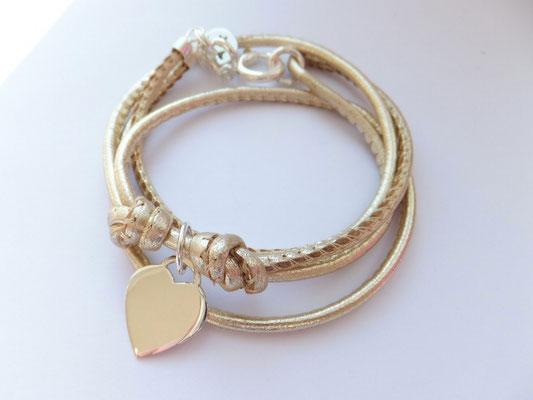 'HEART LINE'  Armband mit großem Herz