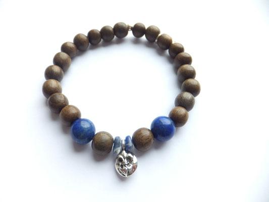 'LILY PEA'  Blue Armband  Geywood/Lapilazuli