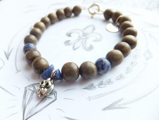 'LILY PEA' Blue Armband
