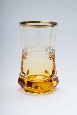 """Verre à thé ou café """"Marco polo"""", cristallerie royale de champagne."""