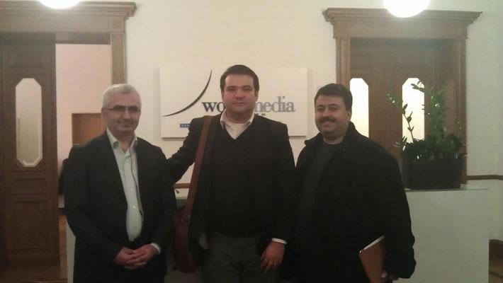 Gemeinsam mit Süleyman Bağ (Chefredakteur DTJ-Online) und Levent Bayram (Social Media Manager, DTJ-Online)