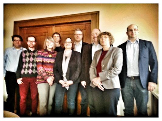 """Mit Mitgliedern der Denkfabrik """"Denk.Raum.Zukunft"""" in Hannover"""