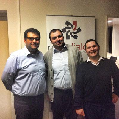 """Besuch des Essener Vereins """"Ruhrdialog"""" mit Celal Fındık (Vorstandsvorsitzender) und Serdar Ablak (2. Vorstandsvorsitzender, Ruhrblogger)"""