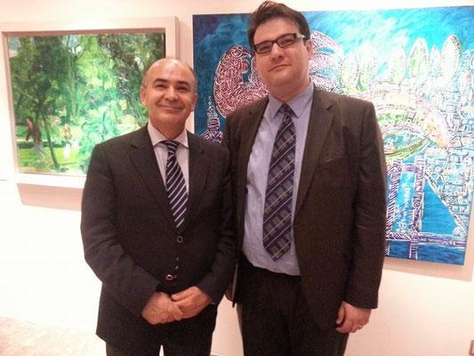 """Auf dem Empfang des türkischen Botschaftern gemeinsam mit Prof. Dr. Murat Erdogan (Leiter des Instituts """"HÜGO"""" an der Hacetepe Universität in Ankara)"""
