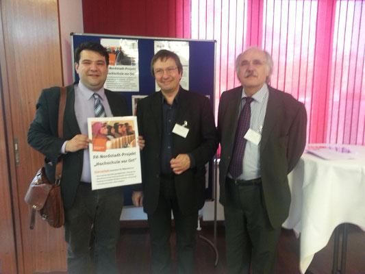 Gemeinsamer Besuch einer Tagung zur offenen Hochschule mit Prof. Dr. Wilhelm Schwick (Rektor der FH Dortmund) und Dieter Baier (Dezernatsleiter)