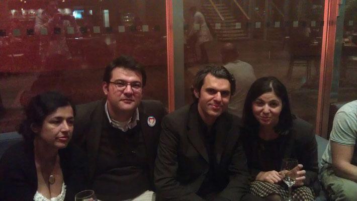 Nach der Podiumsdiskussion der Heinrich Böll-Stiftung gemeinsam mit Ali Aslan (Moderator und Reporter), Hatice Akyün (Journalistin und Schriftstellerin) und Aysus Bademsoy (Dokumentarfilmerin)