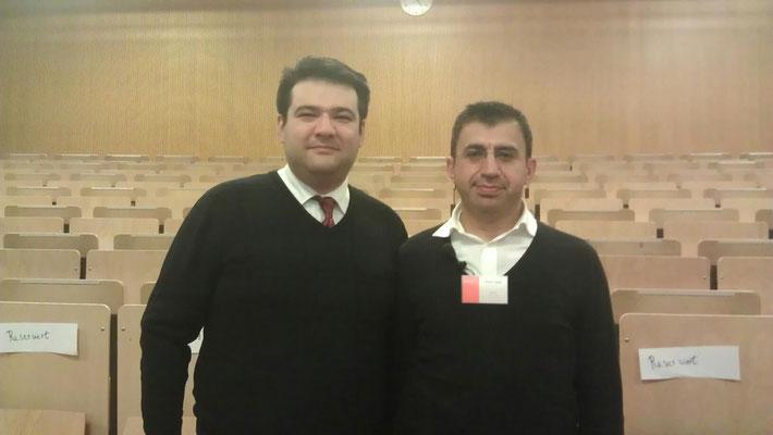 """Auf der gemeinsamen Veranstaltung """"Tag der offenen Tür"""" an der FH Dortmund mit Prof. Dr. Ahmet Toprak"""