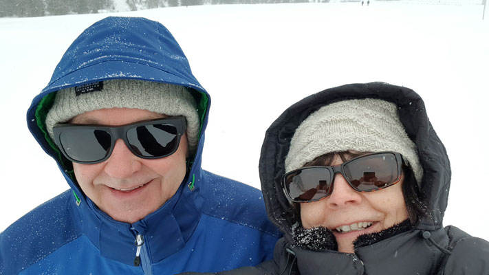 Spaziergang, kein Skiwetter heute