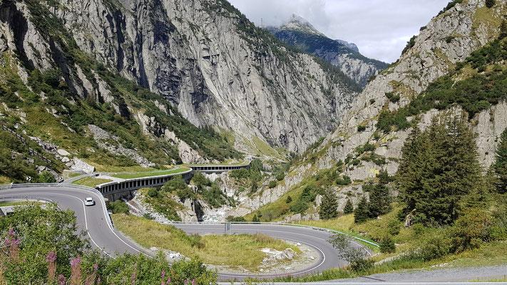 Anreise über den Gotthard