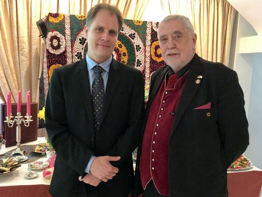 Rolf Becker (l.), Geschäftsführer des Bund der Selbstständigen (BDS), und Bernd Peter Holst, Landesvorsitzender der Arbeitsgemeinschaft der Selbstständigen (AGS) der SPD