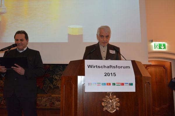 S.E. Ali Majedi, Botschafter der Islamischen Republik Iran, erläuterte in seinem Grußwort die sich ab dem Implementation Day ergebenden geschäftlichen Chancen für die deutsche Wirtschaft