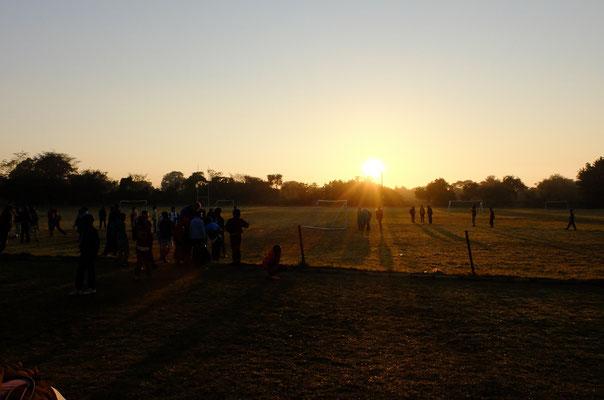 Sonnenaufgang am zweiten Tag