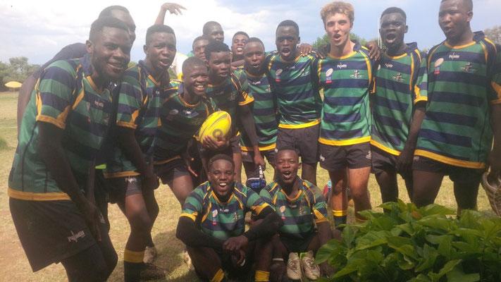 Nach dem Spiel gegen Victoria Falls, Simbabwe