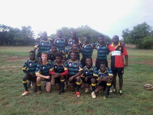 Vor dem Spiel gegen ein Team aus Botswana