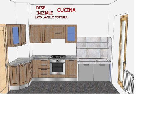 Modifica di una cucina progettazione arredo realizzazione - Disposizione mobili cucina ...