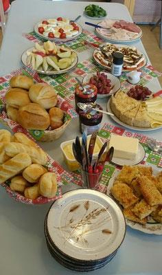 Herzlichen Dank an Frau Nagel für dieses einladende Buffet