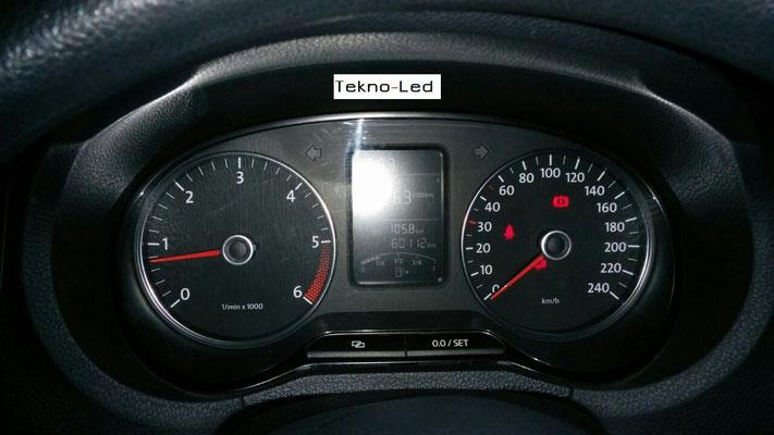 Volkswagen POLO monta un kit LED Auto mod. TKL9-H7-Canbus - UPDATE + Canceller H7 - - Zero Errori Check Luci
