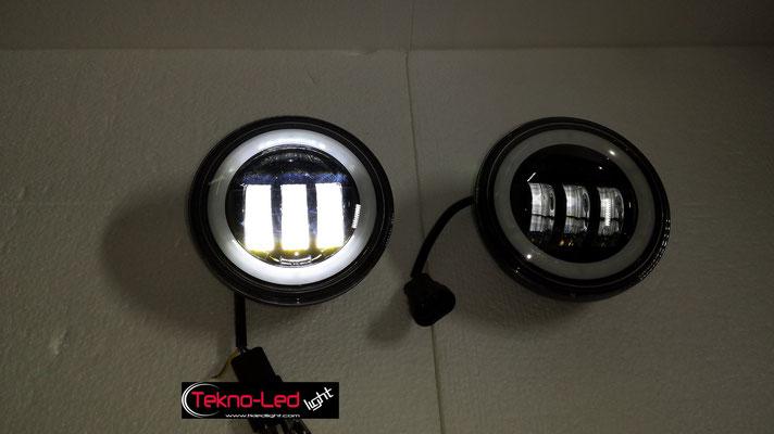 COPPIA FARI AGGIUNTIVI COMPLETI A LED - (1500LUMEN)   Mod. TKL FAR-AGG-30B