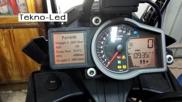DUCATI 1098 monta 1 Kit LED Auto mod. TKL9-H11 CANBUS - 2 lampadine + 2 centraline - No Check Error Abbagliante