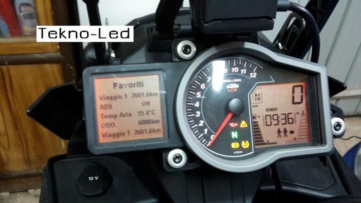 DUCATI 1098 monta 1 Kit LED Auto mod. TKL9-H11 CANBUS - 2 lampadine + 2 centraline - No Check Error Anabbagliante