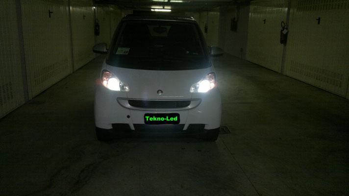 Smart monta un kit LED TKL9-H7 - Canbus - anabbagliante lenticolare