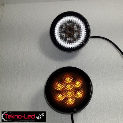 COPPIA FRECCE ANTERIORI LED WRANGLER COLORE FUME' Mod. DIR 2