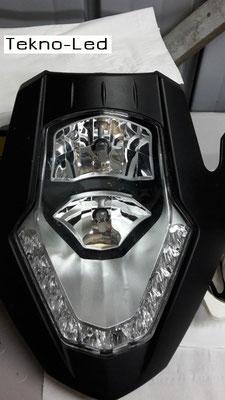 DUCATI 1098 monta 1 Kit LED Auto mod. TKL9-H11 CANBUS - 2 lampadine + 2 centraline - Dettaglio Faro