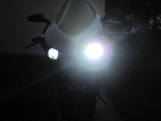 DUCATI 1098 monta 1 Kit LED Auto mod. TKL9-H11 CANBUS - Luce Anabbagliante + Abbagliante