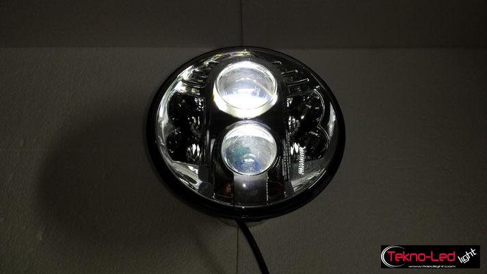 FARO COMPLETO A LED - (4450LUMEN)   Mod. TKL FAR-80S-WHITE - Anabbagliante