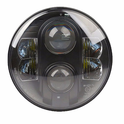 COPPIA FARI COMPLETI FULL LED - (4450LUMEN)  Mod. FAR 80 -BLACK