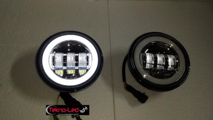 COPPIA FARI AGGIUNTIVI COMPLETI A LED - (1500LUMEN)   Mod. TKL FAR-AGG-30S