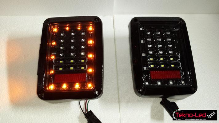 COPPIA FARI POSTERIORI COMPLETI A LED   Mod. TKL WRANGLER REAR-01
