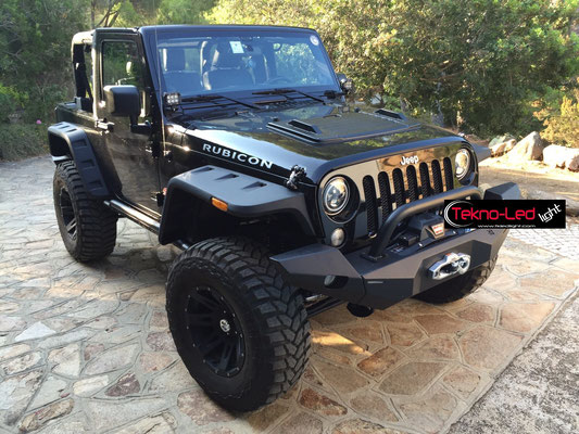 JEEP WRANGLER monta Coppia Fari FULL LED Mod. TKLFAR-40-ORANGE