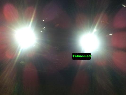 Alfa MITO monta 2 Kit LED mod. TKL9-H7 + 1 Kit LED mod. TKL5B-H1 - Luci Abbaglianti + Anabbaglianti