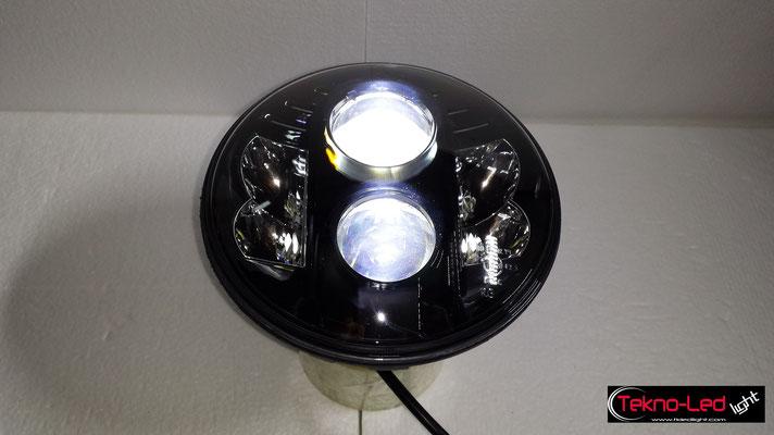 FARO COMPLETO A LED - (4450LUMEN)   Mod. TKL FAR-80B-WHITE - Anabbagliante