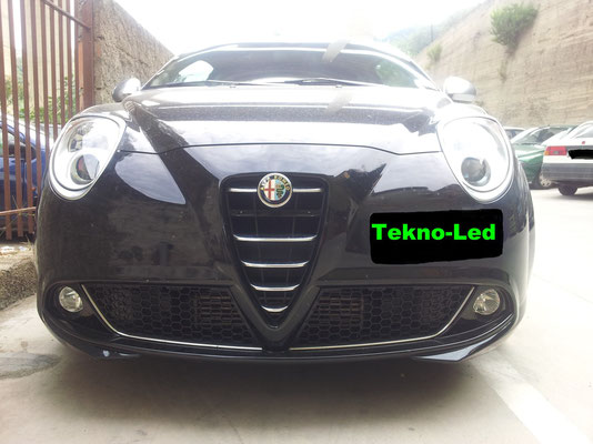 Alfa MITO monta 2 Kit LED mod. TKL9-H7 + 1 Kit LED mod. TKL5B-H1